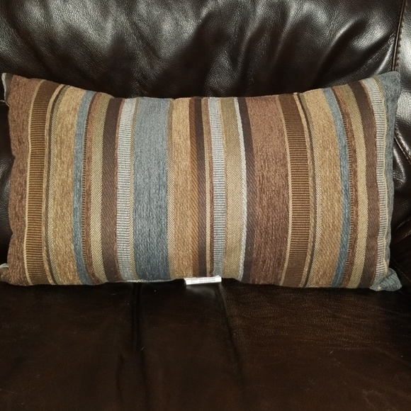 Other Earthtone Striped Decorative Pillow Poshmark Stunning Earth Tone Decorative Pillows